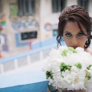 Mireasa cu buchetul de mireasa | Fotograf nunta Sorin Careba